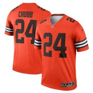 Cleveland Browns Nick Chubb #24 Nike Orange NFL Color Rush Legend Jersey