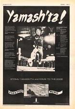 Stomu Yamashta Floating Music UK Tour advert 1972