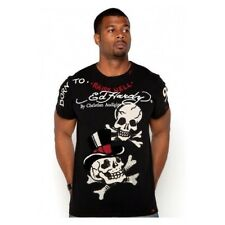 ED Hardy Men's Studded T-shirt Small Skulls XL