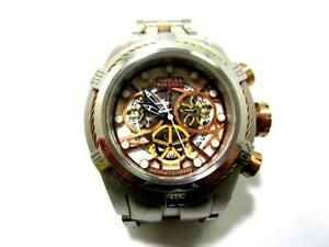 Invicta - Seltene silberfb. große Armbanduhr mit pass. Metallband (Q)  IK7383