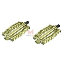 """New Gold Double Round Square Twisted 1/2"""" Pedal Low Rider Bicycle Show Bike"""