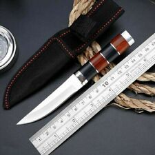 """6"""" Fixed Blade Straight Tactical Military Pocket Hunting Knife With Sheath"""