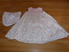 Size 24 Months Summer Cotton Smoked Dress Floral Flower Print & Bloomers EUC