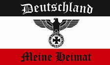 Aufkleber Reichsadler Deutschland meine Heimat Flagge 8 x 5 cm Autoaufkleber