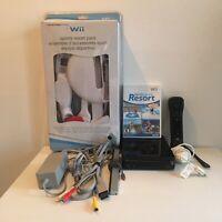 Nintendo Wii Console Bundle Sport Resort Game & Pack w/ 1 Controller 1 Nunchuck