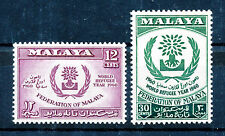 MALAYA 1960 WORLD REFUGEE YEAR SG15/16 PLATE BLOCKS OF 4 MNH