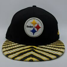 NEW ERA Pittsburgh Steelers NFL Logo Hat Zubaz 9FIFTY Snapback Cap S/M RARE