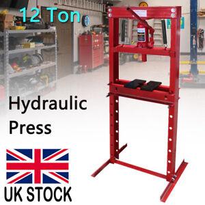 12 Ton Tonne hydraulic garage workshop shop press heavy duty floor standing red