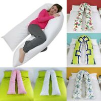 9 Ft / 12 Ft Comfort Printed U Pillow Case Full Body Maternity Pregnancy Support