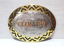 EL CHARRO Mega Fibbia Ovale (9 x 12) cm Mitica Cintura ANNI 80 (PREPPY PANINARO)