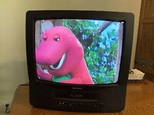 "Daewood TV/VCR Model DVQ-19H1FC 19"" Color Tube Combo Retro Gaming"