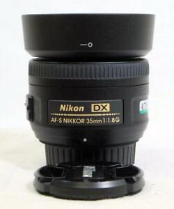 Nikon DX AF-S Nikkor 35mm f/1.8G Prime Lens w/ Caps & Hood - VERY CLEAN! (4781)