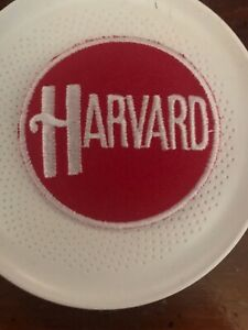 "Harvard University Vintage Embroidered Iron On Patch App  2"" X  2"""