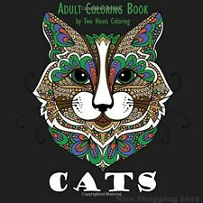 Adult Coloring Book Cat Painting Relax Fun Art Craft Activity Hobby For Grown Up