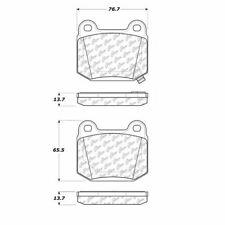 Centric Posi-Quiet Brake Pad Rear For 03-17 Infiniti/Nissan/Subaru #105.09610