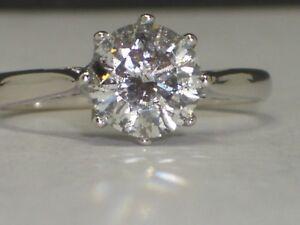 Diamond Solitaire, Pepper Diamond 1.5ct, 18ct White Gold, Si3 Clarity,