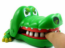 Mini Crocodile Mouth Dentist Bite Finger Toy Kid Adult Funny Game  Random Color