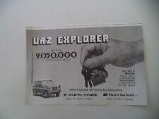 advertising Pubblicità 1985 UAZ 469 B