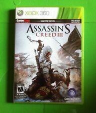 Assassin's Creed III (Microsoft Xbox 360, 2012) 2 Disc