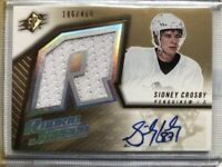 Sidney Crosby 2005-06 Upper Deck SPx #191 Jersey Auto 186/499 Rookie Card RC