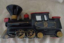 Train engine No.9 ceramic rail road engine-Caddy table desk  planter Japan