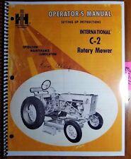IH International C-2 Rotary Mower for Lo-Boy McCormick Farmall Cub & 140 Manual