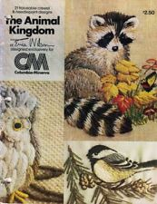 The ANIMAL KINGDOM 21 Traceable Crewel & Needlepoint Designs Vintage 1977 CM