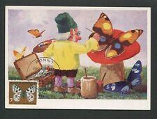 BUND MK 1962 SCHMETTERLING BUTTERFLY MAXIMUMKARTE CARTE MAXIMUM CARD MC d8661