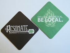 Beer Collectible Coaster ~ RESONATE Brewery & Pizzeria ~ Bellevue, WASHINGTON
