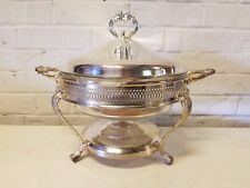 Anchor Hocking Fire King Baking Casserole Dish with Glass and Silver plate