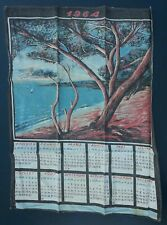 Torchon Calendrier 1964 decor bord de mer