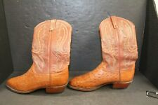 Vintage Lucchese Men's Cowboy Boot Size 10 Ostrich