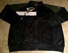 Utah Jazz Color Block Track Jacket 2XL Navy Double Embroidered Logos NBA