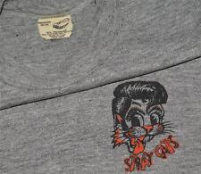 RaRe *1982-83 STRAY CATS* vtg concert shirt (S/M) 80s Rockabilly Rayon Triblend