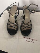 Salvatore Ferragamo Women's Brown Wedge Sandals , 8,5