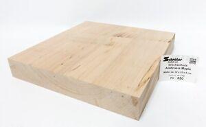 Woodturning Ambro. Maple Section Crafting Wood Fine Knife Handle Noble 550