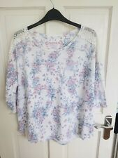 Indigo at M&S size 16 pink and blue floral top