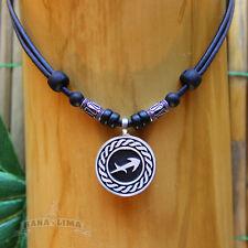 Sternzeichen Halskette SCHÜTZE Sagittarius verstellbar Lederkette Surferkette