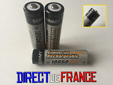 3 PILES ACCUS RECHARGEABLE BATTERIE 18650 Li-ion 3.7V 4800Mah BATTERY PUISSANT