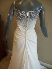 NEW Galina L8356 Ivory Spaghetti Strap Mermaid Bridal Dress Wedding Gown Size 14