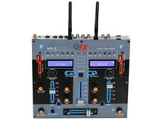 QFX MX-3 2-Channel Professional DJ Mixer +Dual Bluetooth +Dual USB/SD +Echo