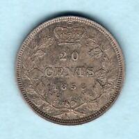 Canada. 1858 20 Cents.. RARE This Grade - aEF-EF