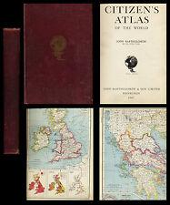 JOHN BARTHOLOMEW THE CITIZEN'S ATLAS  OF THE WORLD  1947 cartes