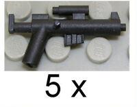Little Arms - 5 x Revolt Rifle schwarz Waffe für LEGO Star Wars Rebellen NEUWARE