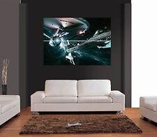 Star Trek Enterprise y Reliant Vector Gigante De Pared Art Print imagen Cartel