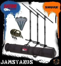 3 Shure Beta 58 58A Mics, Stands, Cables and Gator Case Free US 48 State Ship!