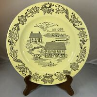 Vintage Bucks County Royal Sebring Dinner Plate Amish Americana Farm Farmhouse