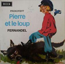 """Pierre et Le Loup - Prokofieff - Fernandel -  Vinyl 7"""" 45T (Single)"""