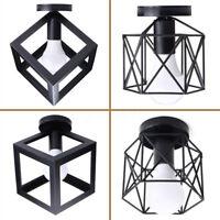Vintage Rétro Cage Plafonnier Lustre Lampe Suspendu Luminaire Lumière Éclairage