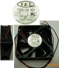 NEW 70mm*25mm Ball Bearing Fan T&T 7025H12B-ND1 12VDC/8/9/12V 2wire tinned 34cfm